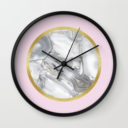 Golden ring III Wall Clock