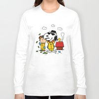 peanuts Long Sleeve T-shirts featuring Breaking Peanuts by Maioriz Home