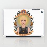 "karu kara iPad Cases featuring Kara ""Starbuck"" Thrace by heymonster"
