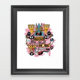 Pizza Mystery Framed Art Print