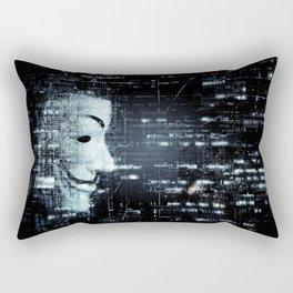 hacker background Rectangular Pillow