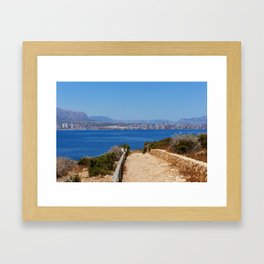 Pathway to Benidorm Framed Art Print