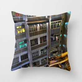 Street Photo - Old Building - HDR  Throw Pillow