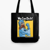 nausicaa Tote Bags featuring Protect the Valley by adho1982