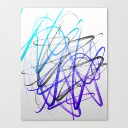 Expressive and Spontaneous Abstract Marker Canvas Print
