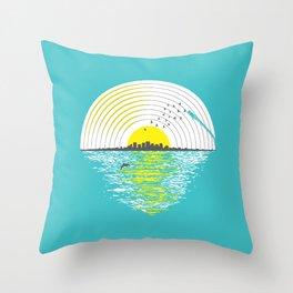 Morning Sounds Throw Pillow