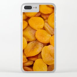 Dried cut apricot fruits Clear iPhone Case