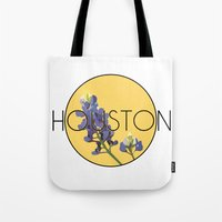 houston Tote Bags featuring HOUSTON by Lauren Jane Peterson