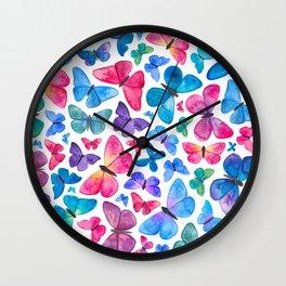 Watercolour Butterflies Wall Clock