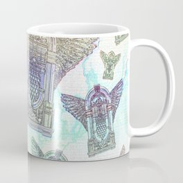 Retro Jukebox Distressed Watercolor and Ink Coffee Mug