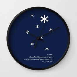 SNOW - FontLove - CHRISTMAS EDITION Wall Clock