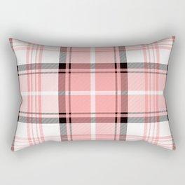 Pink Tartan Rectangular Pillow