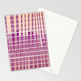 Purple Lines S18 Stationery Cards