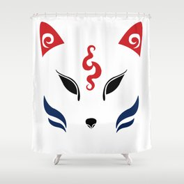 Kitsune Shower Curtain