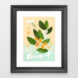 Botanical Diagram: Kumquat Framed Art Print