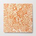 Marigold Lino Cut, Tangerine Orange by alexandratarasoff