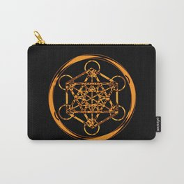 Metatron Cube Gold Carry-All Pouch