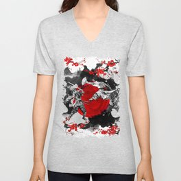 Samurai Fighting Unisex V-Neck