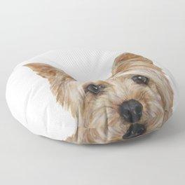 Yorkshire Terrier original painting print Floor Pillow