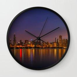 Pre-Dawn in Chicago Wall Clock