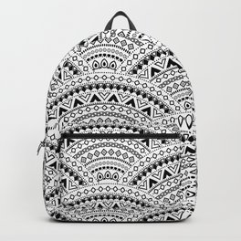 Black and White Tribal Scales Backpack