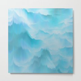 Clouds and mountains. Abstract. Metal Print