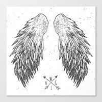 wings Canvas Prints featuring wings by Julia
