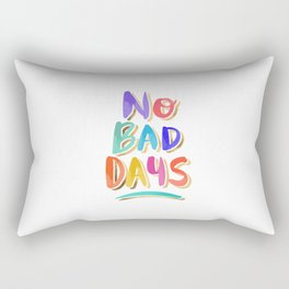 No Bad Days – Rainbow Palette Rectangular Pillow