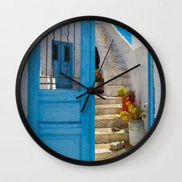 Island house xi Wall Clock