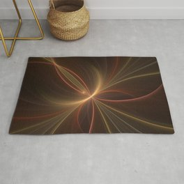 Dancing with the Light, Abstract Fractal Art Rug