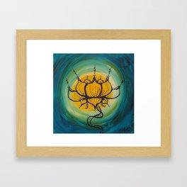 Yellow Lotus Framed Art Print