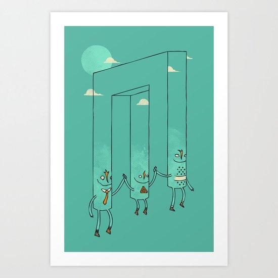 The Belvederes Art Print