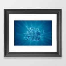 Abstract water South American sea lion Framed Art Print