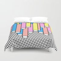 return Duvet Covers featuring Return of the Past by Tyler Spangler