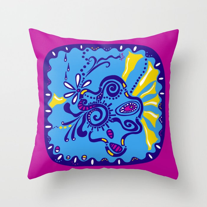 Dot #5 by lalalamonique Throw Pillow