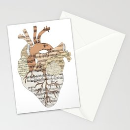 Sound Of My Heart (on white) Stationery Cards