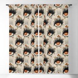 Weird Eye Of Fractured Lava | Digital Art Blackout Curtain