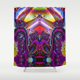 BBQSHOES: Fractal Digital Art Design 3114b Shower Curtain