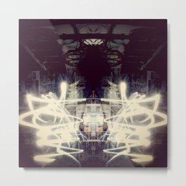 Lights & Mirrors Metal Print