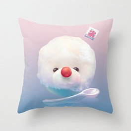 Bichon Fluffy Shaved Ice  Throw Pillow