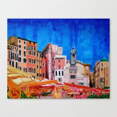 Campo de' Fiori Roma Canvas Print