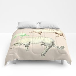 sleeping cats Comforters