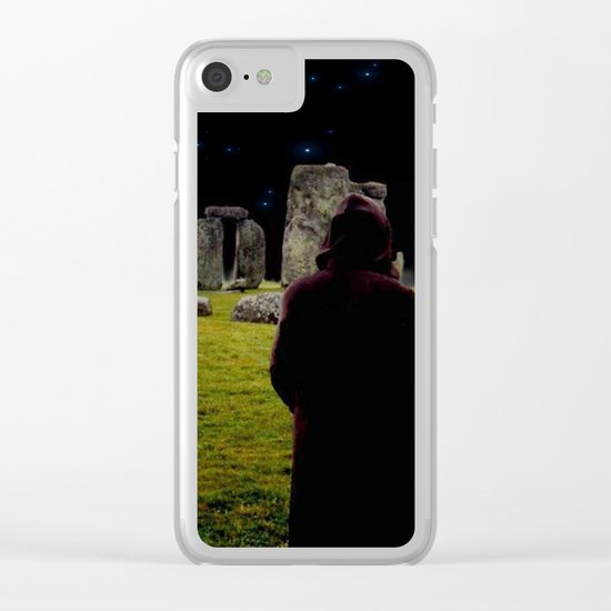 Druid Princess of Stonehenge Clear iPhone Case