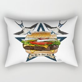 It's Time To Get Grill Rectangular Pillow