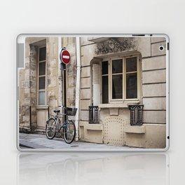 Parked at Ile Saint-Louis Laptop & iPad Skin
