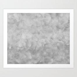 Soft Gray Clouds Texture Art Print