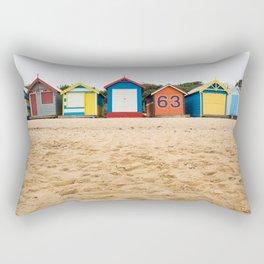 Beach Huts Rectangular Pillow