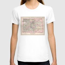 Vintage Map of Colorado (1884) T-shirt