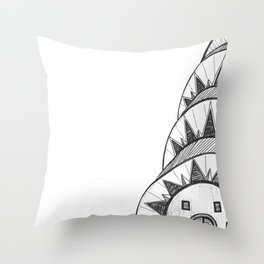 Chrysler Building Drawing Throw Pillow