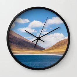 Laguna Miscanti, Atacama, Chile by Caroline Zhao Wall Clock